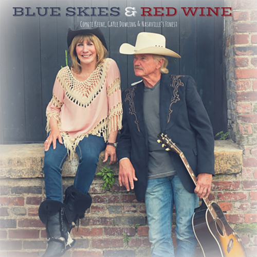 CD Cover of Blue Skies & Red Wine